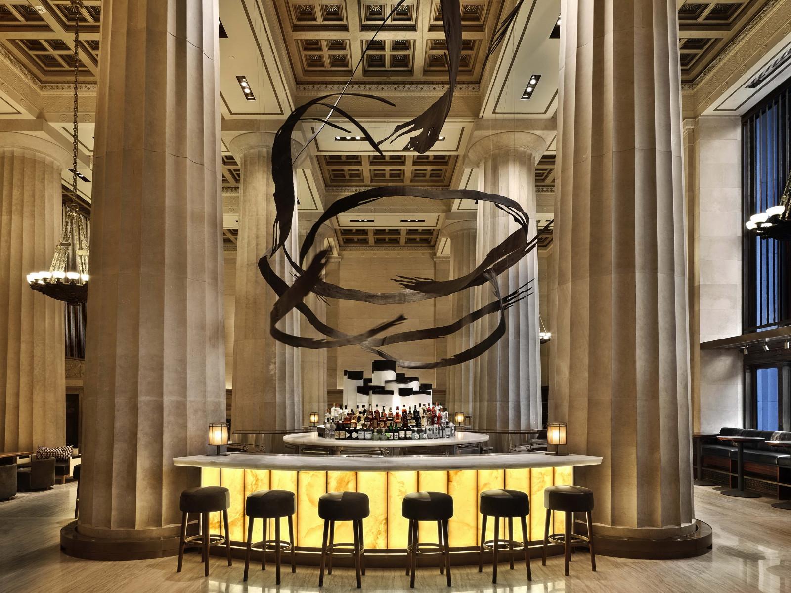 曼哈顿餐厅大堂设计