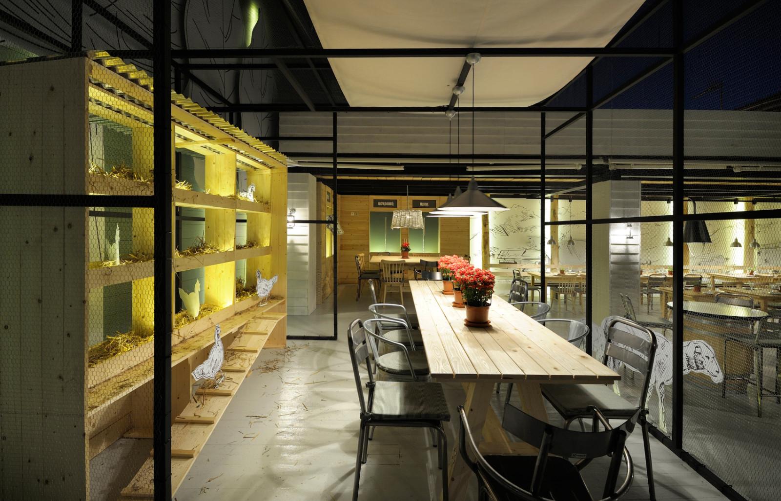 希腊主题餐厅就餐区设计