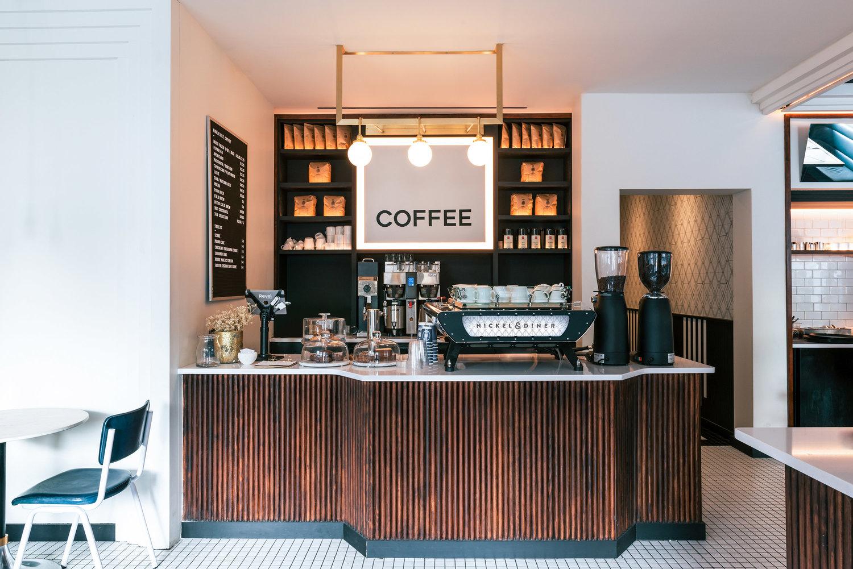 咖啡轻食餐厅前台设计