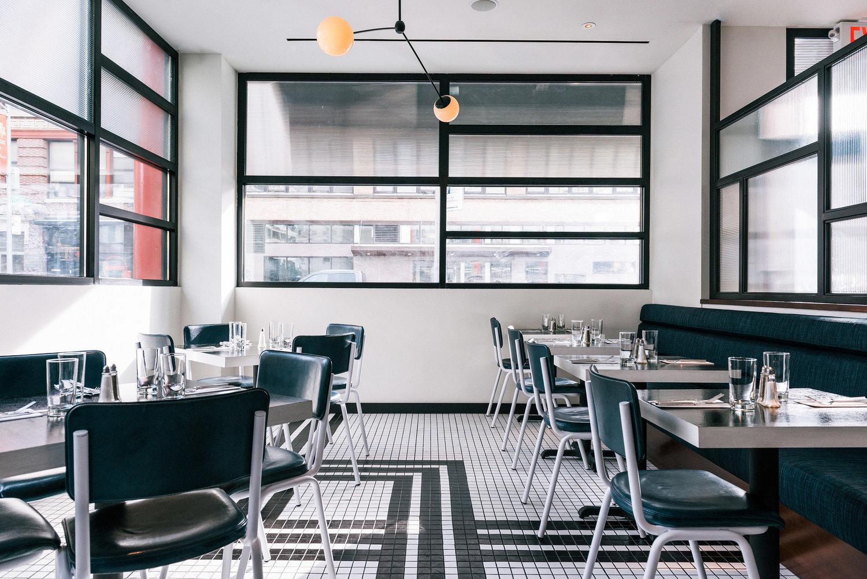 AM咖啡轻食餐厅就餐区设计