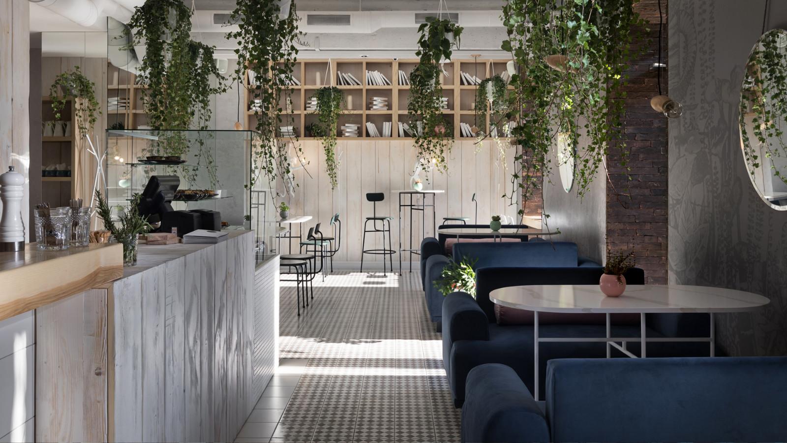 乌克兰轻食餐厅就餐区设计
