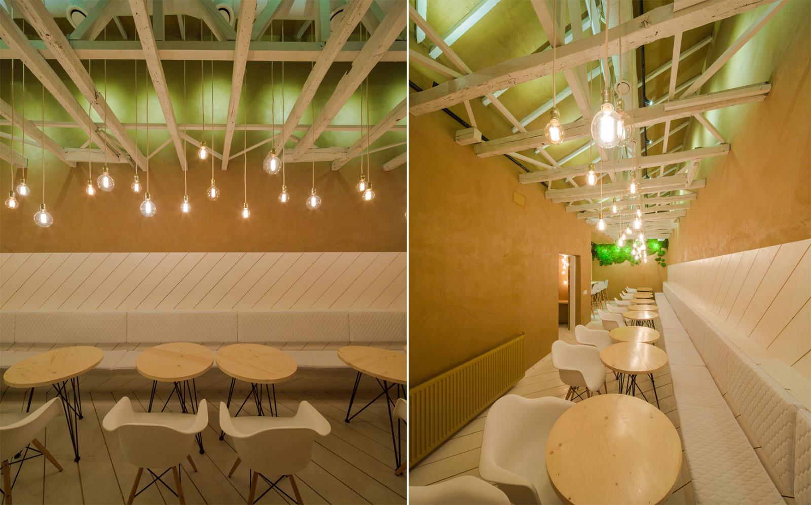 布加勒斯特西餐厅就餐区设计