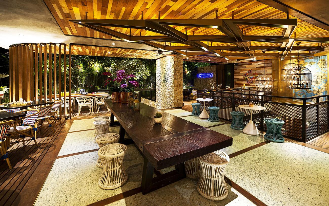 柠檬草的爱因斯坦主题餐厅就餐区设计