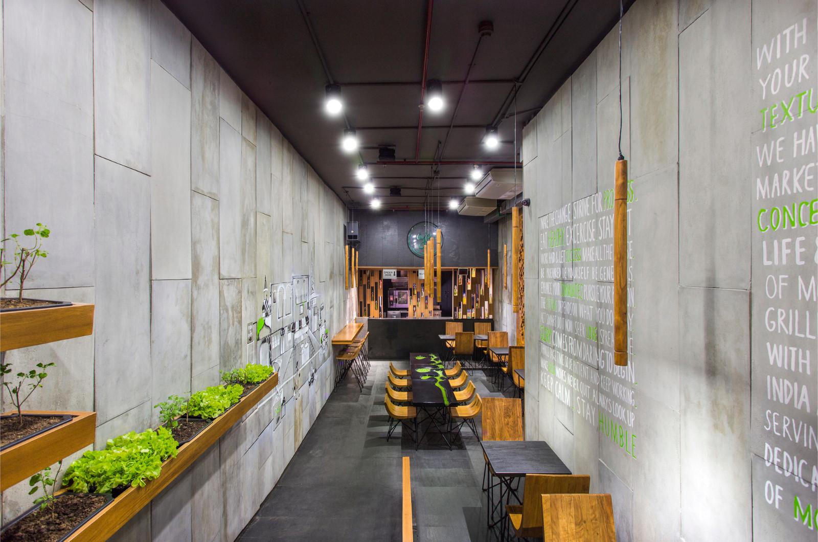 AJA轻食餐厅就餐区设计