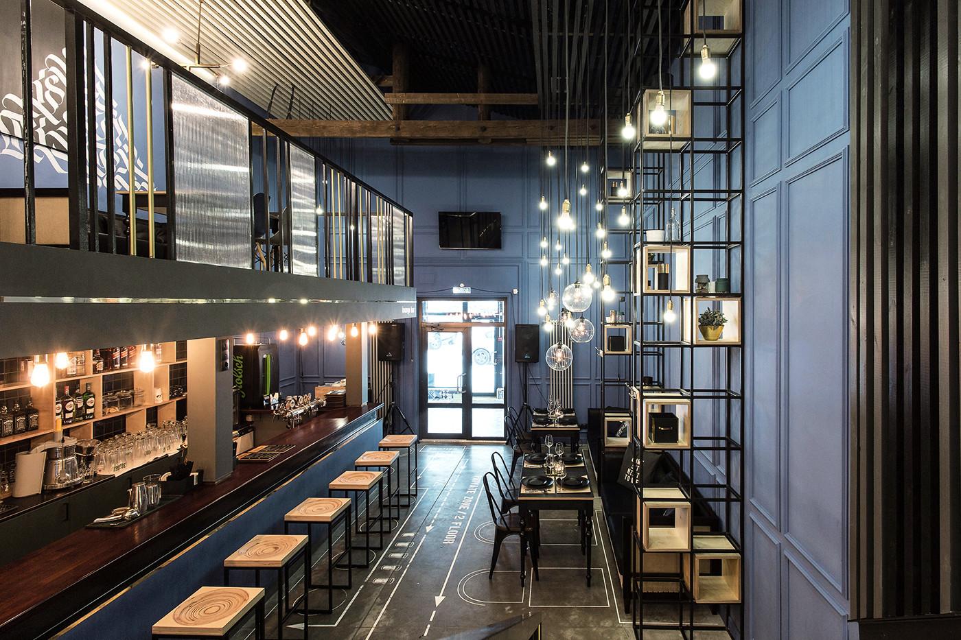 现代化西餐厅就餐区设计