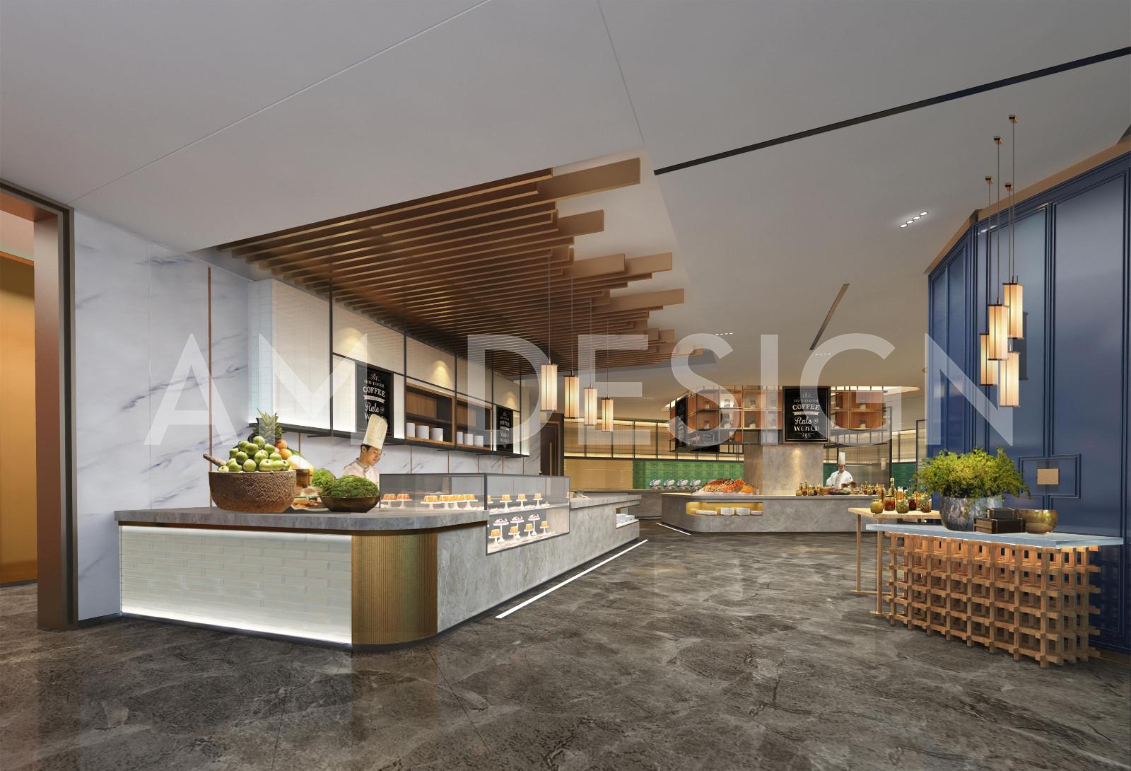 沧州渤海酒店餐厅明档区设计